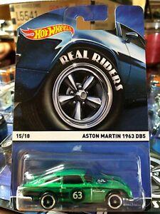 HOT WHEELS 2015 Real Riders Aston Martin 1963 DB5 Heritage #15//18 1:64 Green