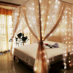 600-LED-String-Fairy-Curtain-Lights-Party-Wedding-Xmas-Indoor-Outdoor-Garden-AU