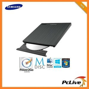 NEW-Samsung-External-Slim-CD-DVD-Burner-Writer-Portable-USB-FREE-Power2Go-PC-MAC