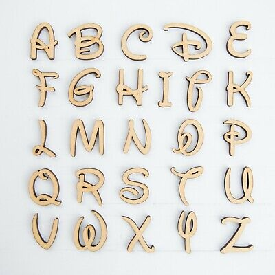 Numbers 2cm 10cm sizes Wooden MDF Disney Letters
