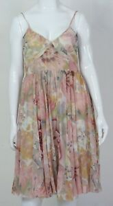 BNWT-GRACE-HILL-Size-16-Womens-Vintage-Designer-Pink-Beige-Dress-Party-Wedding