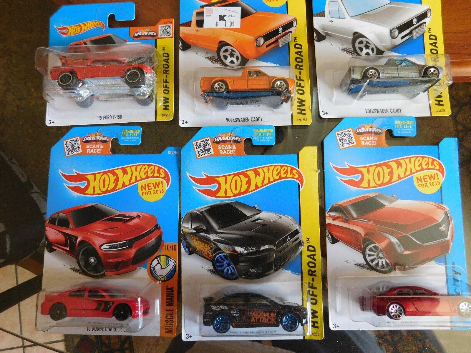 Hot wheels lot 25 cars dodge charger, Volkswagen etc