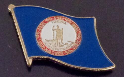 Virginia State Flag Lapel Pin USA VA