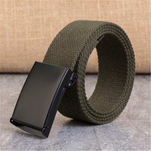 Hot Mens Womens Military Tactical Automatic Buckle Nylon Waistband Canvas Belt