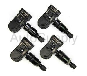 4 433mhz TPMS Tire Pressure Sensors Dodge Challenger Gloss Black Valve Stems