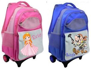 Personalised-Child-039-s-Trolley-Suitcase-Back-Pack-Ideal-for-Nursery-Playschool