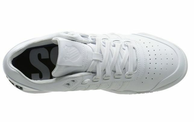 K-SWISS 03506-197 Pelle GSTAAD Mn's (M) White/Nero/Big Log Pelle 03506-197 Lifestyle Shoes f50bd6