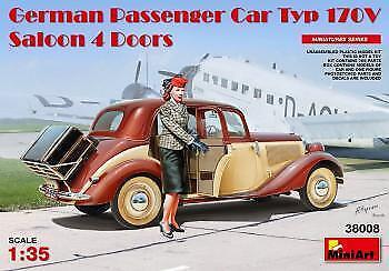 Miniart 1/35 German Passenger Car Type 170V Saloon 4 Doors # 38008