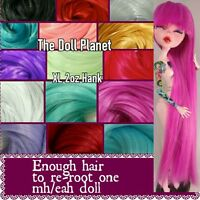 Xl2oz Nylon Bright Color Hank For Rerooting Monster High & Ever After High Dolls