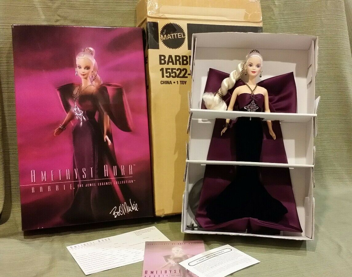 Barbie Amethyst Aura The Jewel Essence Collection by Bob Mackie  15522  NEW
