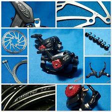 Brand NEW AVID SD7 Lever + BB7 Brake(F&R) + Jagwire Cable Hosing + 160mm Rotors