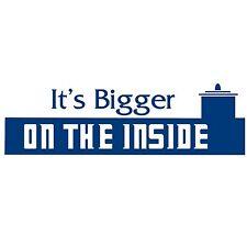 It's Bigger on the Inside Doctor Who Vinyl decal sticker BFG