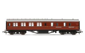 Hornby-R4236C-BR-Ex-LMS-Corridor-Brake-3rd-Coach-M5806M-00-Gauge
