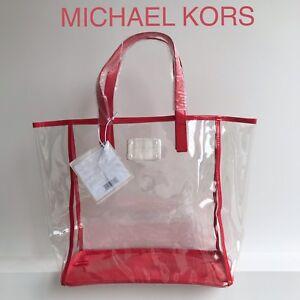 6cc03e51ddd 💛💜❤️MICHAEL KORS TOTE BAG CLEAR SHOPPER BEACH BAG Free Delivery ...