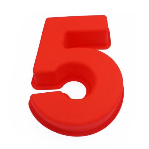 Número de Silicona Grande Torta de estaño molde Cumpleaños Aniversario Festival Creativo