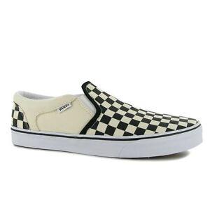 Hombres Niños Branded 15 Canvas Check Shoes Asher Guys Black De nat Tallas Vans 3 Venta Van a Y0wq4Yd