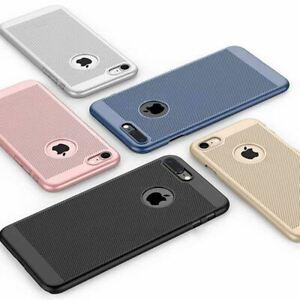 Ultra-Thin-Case-Apple-iPhone-10-X-8-7-6s-5s-Luxury-Slim-PC-Mesh-Hard-Back-Cover