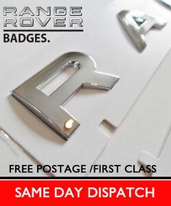 Range-Rover-Badge-Lettering-Boot-Bonnet-chrome-letters-Sport-Vogue-P38-Evoque
