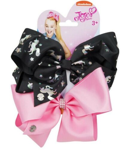 Set of 2 JoJo Siwa Large Bows Dancer Hair Bow Accessory Girls Party Fun NEW