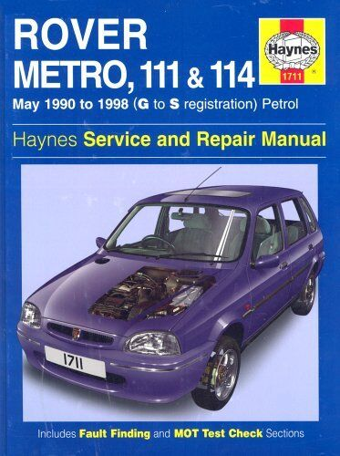 1 of 1 - Rover Metro, 111 and 114 Service and Repair Manual: 1990 to 1998 (Haynes Servi,