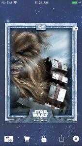 Topps Star Wars Digital Card Trader Blue Hoth Worlds Of Star Wars Insert