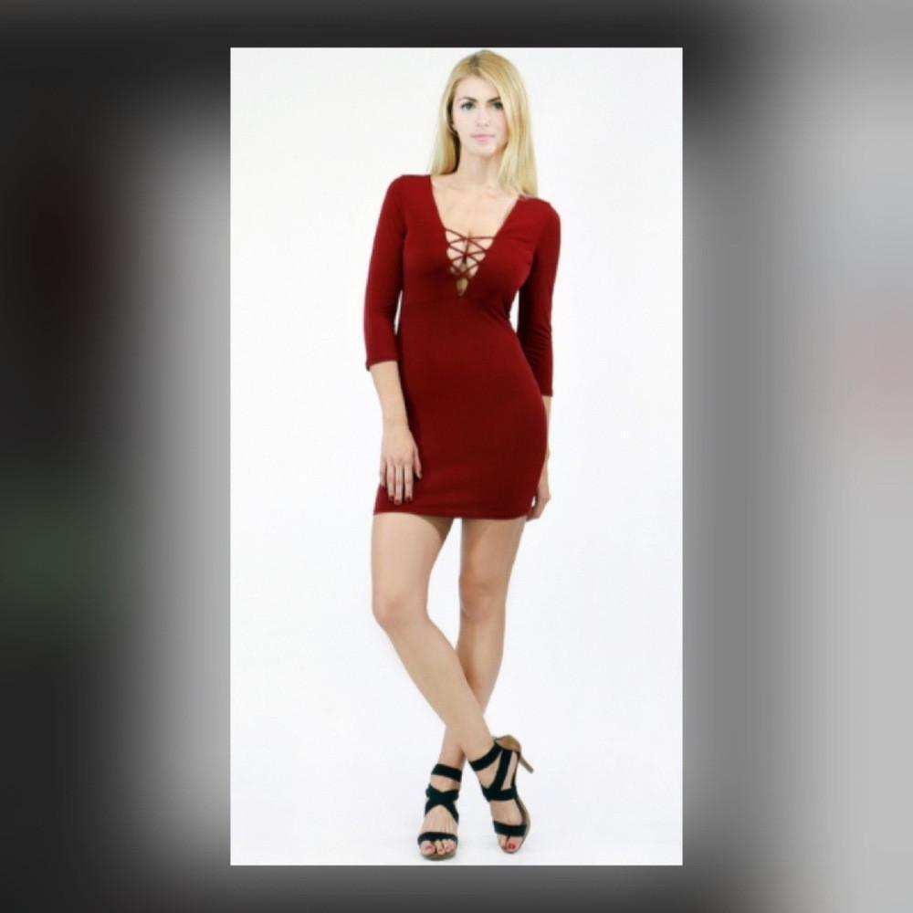 8534ae626ee SKATER LINE DRESS COLOR Burgundy | Fashionable Trending Dresses 2019