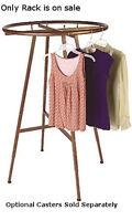 Retail Boutique Cobblestone Round Clothing Rack 36 Diameter
