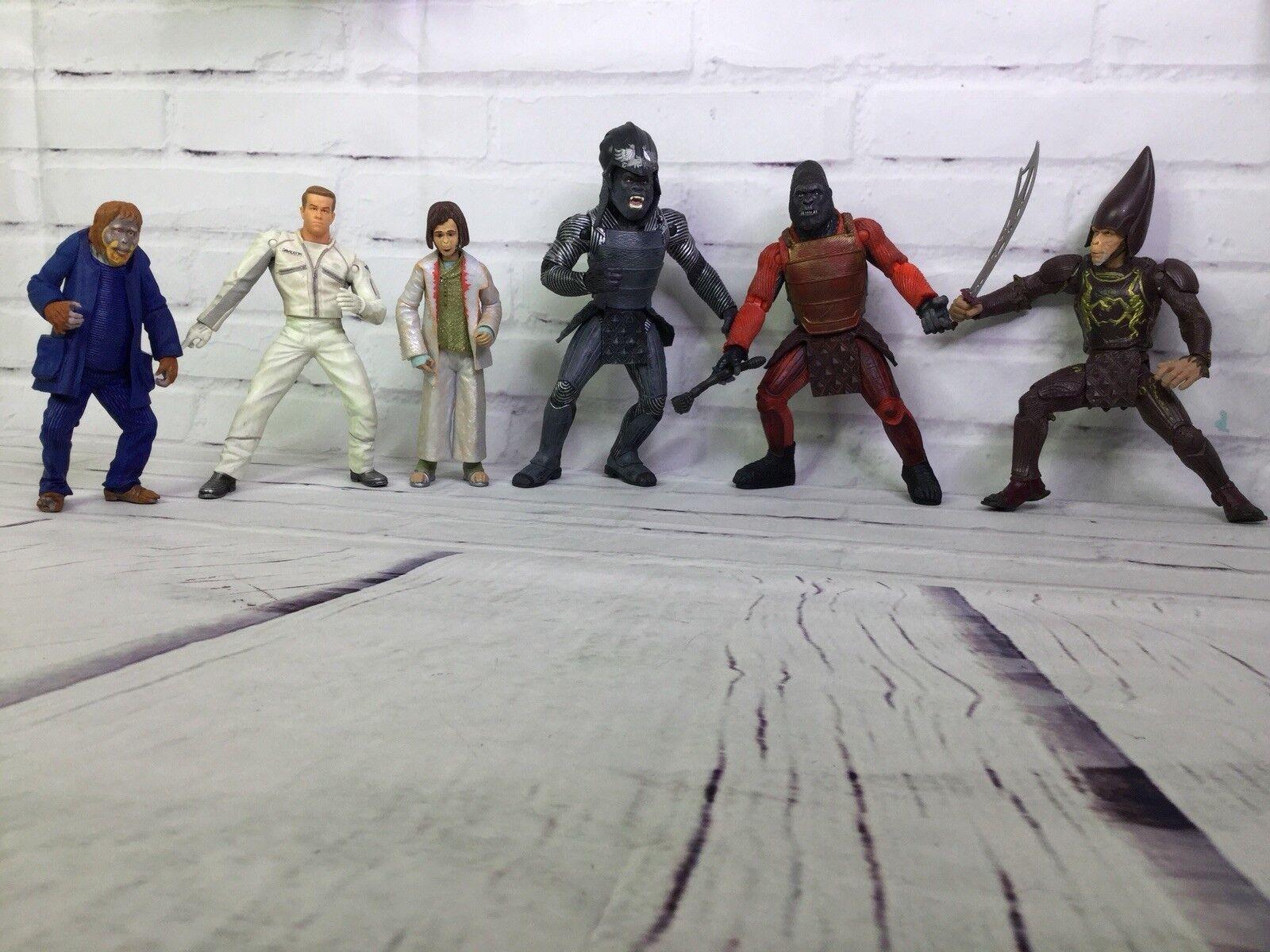 Planet Of The Apes Movie Action Figures Lot Thade Ape Ape Ape Commander Attar Leo Ari 6b9783