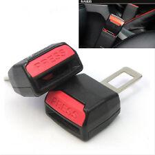 2 x CAR SEAT BELT CLIP EXTENDER SUPPORT BUCKLE SAFETY ALARM STOPPER CANCELLER