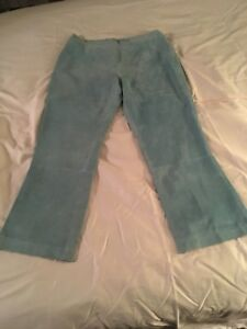 Guillaume-leather-pants-and-skirt-Light-blue-lined-amp-washable-leather-sz-Large