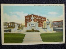 1920's The Fountain, Gift of J.J. Culbertson in Paris, TX Texas PC