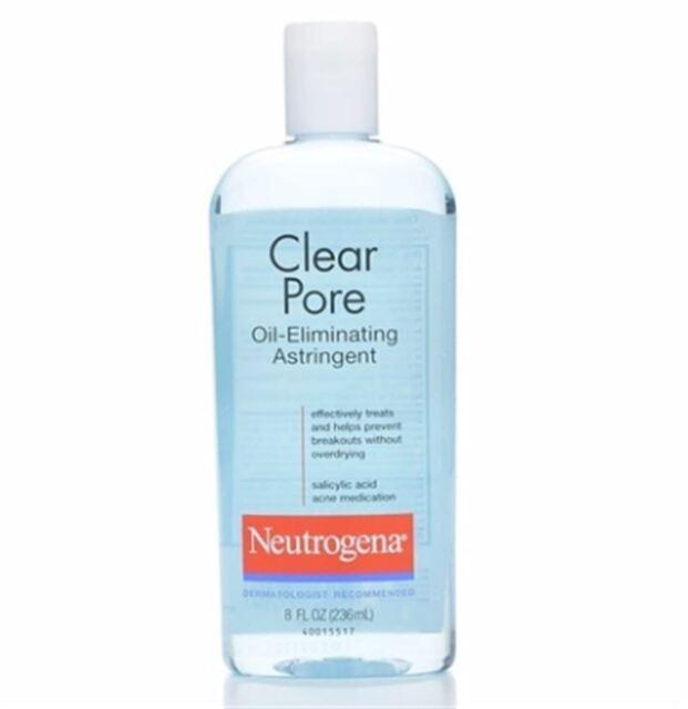 Neutrogena Clear Pore Oil-Eliminating Astringent 8 oz (Pack of 4)