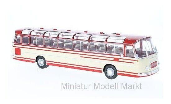bus009 - Ixo SETRA s14-BEIGE ROUGE - 1966 - 1 43