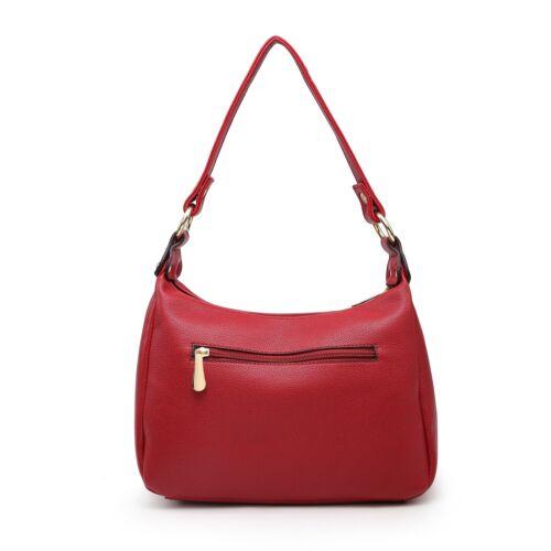 Classic Smart Commuting Shoulder Bag Woman Lady S-Medium Faux Leather