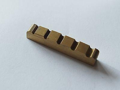 Copper Bass guitar Brass nut For 5 string Bass Top Nut 45mm x 6mm