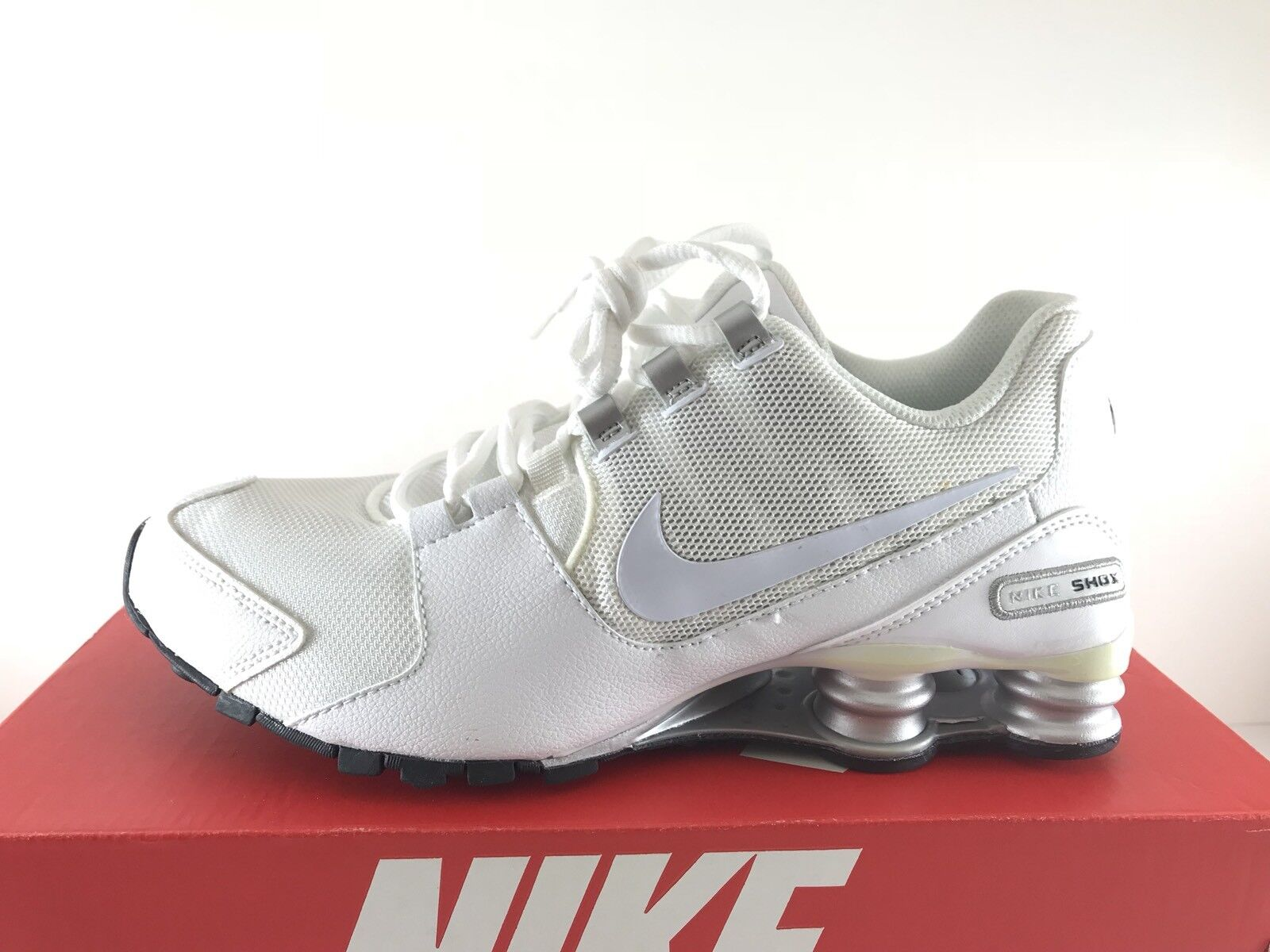 Nike Shox Avenue Running Shoes White Metallic Silver Black Comfortable Cheap and beautiful fashion