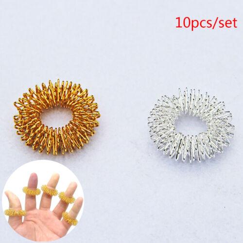 10 Stücke Finger Massage Ring Akupunktur Akupressur Gesundheitswesen Massager PD