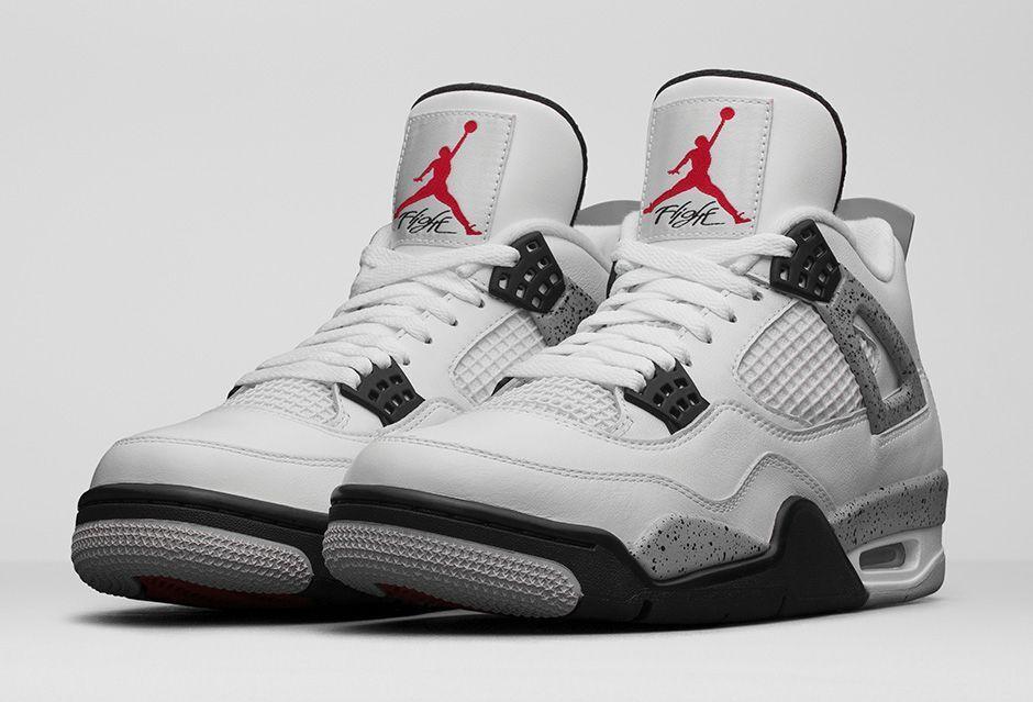 2016 Nike Air Jordan 4 IV Retro White Grey Cement Size 10.5 840606-192 1 2 3 5 6