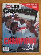 1993 Les Canadiens CHAMPIONS et de ... and ... 24 MONTREAL Program PATRICK ROY
