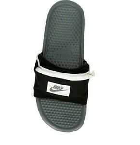transportar billetera recibo  Nike Benassi JDI Fanny Pack Slides Size 7 Black w/ dust bag unisex msrp$55  | eBay