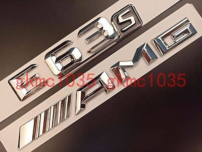 CHROME E63S AMG REAR BOOT EMBLEM BADGE STICKER FOR MERCEDES BENZ E CLASS AMG