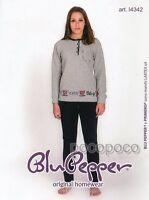 Pajamas Long Sleeve Girl Point Milano Blue Pepper Art. I4342