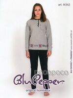Pajamas Long Sleeve Girl Point Milano Blue Pepper Art. I4342