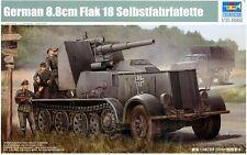 Trumpeter 1/35 German 8.8cm Flak 18 Selbstfahrlafette Plastic Model Kit 1585