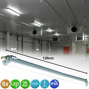 6x LED Wannen Leuchten Garagen Lager Hallen Decken Nass-Raum Strahler Lampen