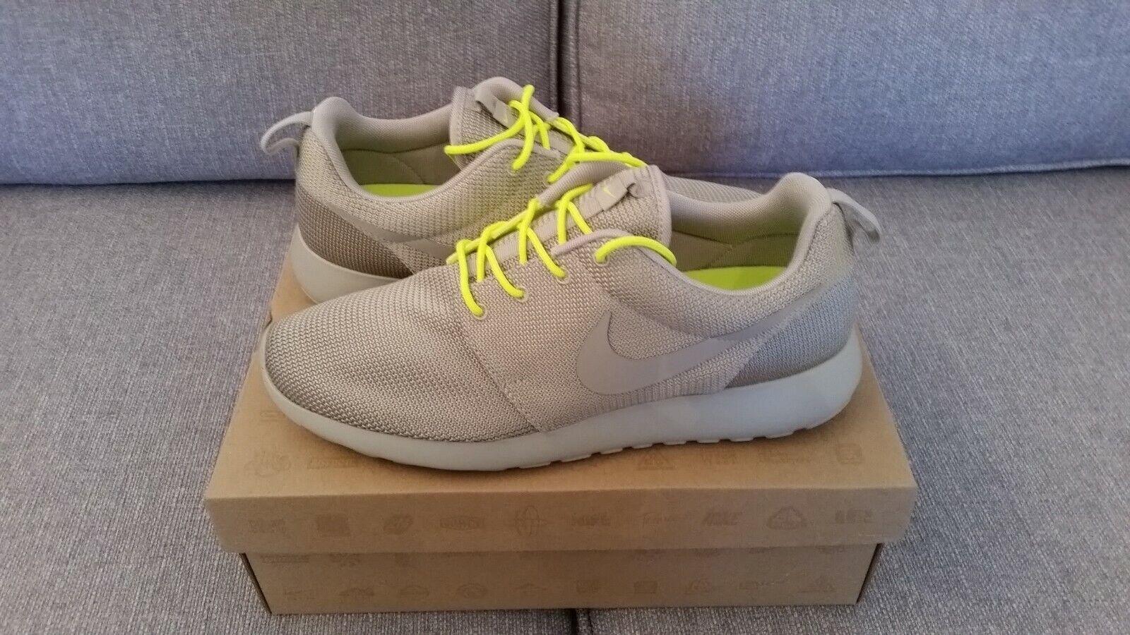 Nike Roshe Run - Grey   Yellow  - Men's UK 10