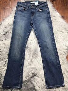Levi-039-s-Womens-515-Jeans-Size-2-Boot-Cut-Dark-Wash-Denim-Mid-Rise-Stretch