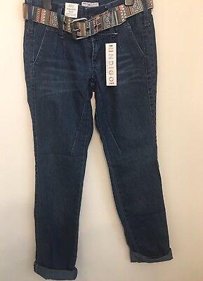 Ben Informato Marks And Spencer Bnwt Ragazze Indigo Junior Denim Pantaloni Con Cintura, Età 12 Anni-mostra Il Titolo Originale Costo Moderato