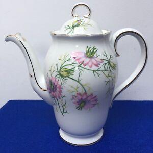 "Adderley Bone China, ""love In The Mist"" Café Pot, Rose Lavande H554 C.1960-afficher Le Titre D'origine Apparence Attractive"
