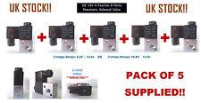 5 x DC 12V 2 Position 3 Ports Pneumatic Solenoid Valve - CF 3V1-06
